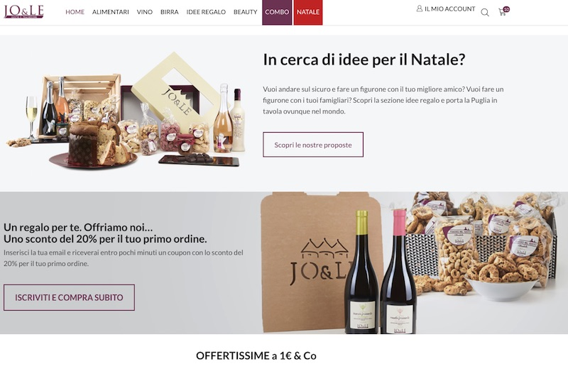 sistema di coupon e-commerce food